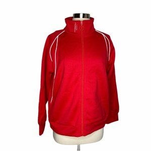 Miaou Crop Sleeve Track Jacket Red White